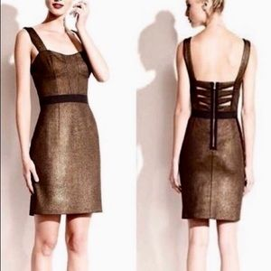 Betsey Johnson metallic corset bodycon mini dress